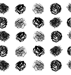 Hand crafted seamless patterns with textured vector