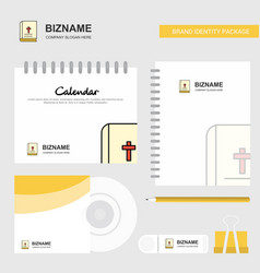 holy bible logo calendar template cd cover diary vector image