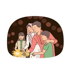 indian deepavali and christmas holiday concept vector image