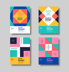Layout design template cover book flyer vector