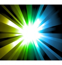 light explosion background vector image