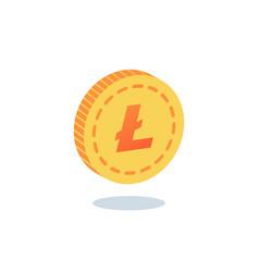 litecoin coin gold coin vector image