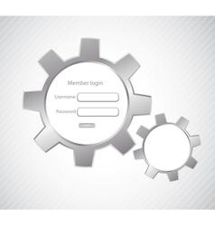 Login page vector image