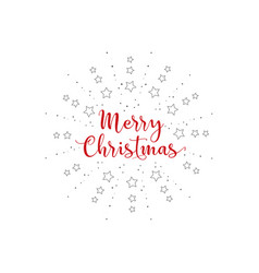 merry christmas with burst on a white background vector image