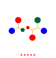 Molecule icon different color vector