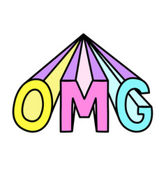 omg abbreviation isolated cool word vector image