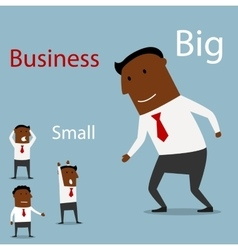 Partnership between big and small business vector