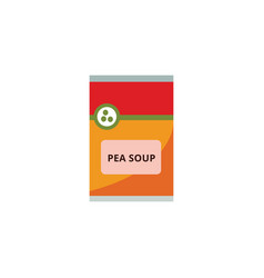 pea soup packaging supermarket food product vector image