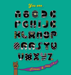 Romantic cipher text you are my superhero vector