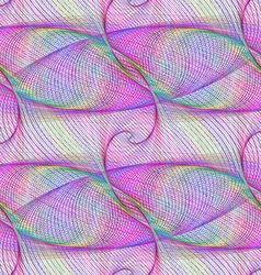 Seamless smooth curved line fractal pattern vector