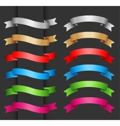 Set ribbon banner for your text vector