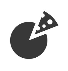 slice of pizza or cheese food and beverage set vector image