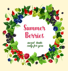 Summer berries and fruits poster vector