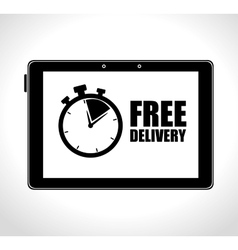 Tablet technology free delivery time vector