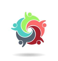 Teamwork Social 5 Logo vector image