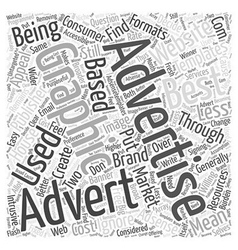 Text v Graphic on Adsense Word Cloud Concept vector