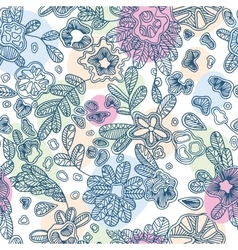 Textile seamless abstract pattern with hand-drawn vector image