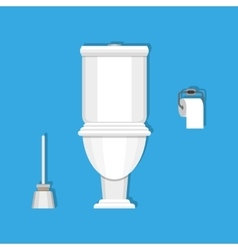 Toilet paper and brush vector image