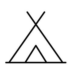 tourist tent line icon simple minimal pictogram vector image