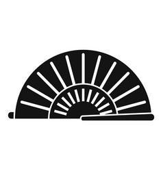 Tradition hand fan icon simple style vector