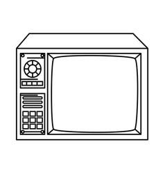 Tv nineties line style icon vector