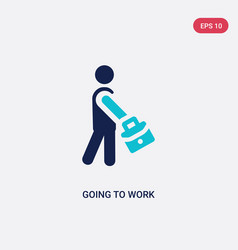 Two color going to work icon from behavior vector