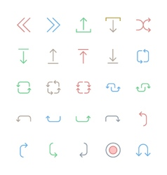 User Interface Colored Line Icons 24 vector image