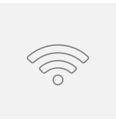 Wifi sign line icon vector image