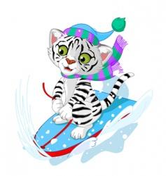 fast fun tiger vector image vector image