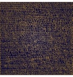 Golden scribble on blue background vector image