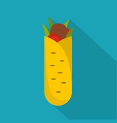 shawarma icon flat style vector image