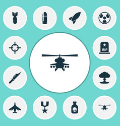 battle icons set collection of target atom vector image vector image