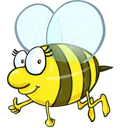 Bee cartoon isolated on white background vector image