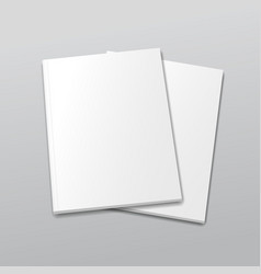 Blank empty magazine or book template on a gray vector image vector image