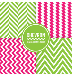chevron seamless pattern background set pink and vector image vector image