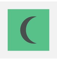 crescent icon vector image