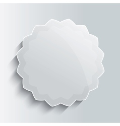 Glass star button template vector image