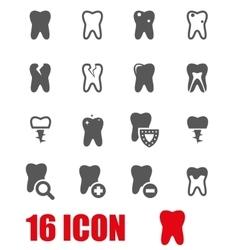 grey teeth icon set vector image
