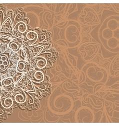 Half of snowflake vector image