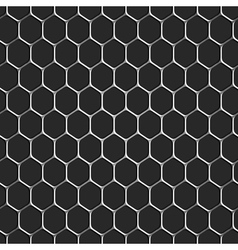 Monochromatic honeycomb seamless pattern vector image vector image