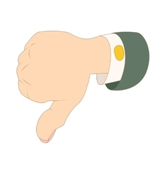 Thumb down dislike icon cartoon style vector