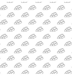 unique digital gold ingots seamless pattern with vector image vector image