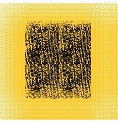 Yellow black square in grunge style vector image