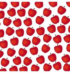 apple pattern on white background vector image vector image