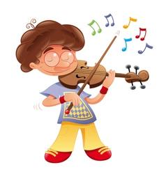 Baby musician vector image vector image