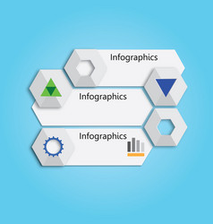 banner or chart for web design vector image