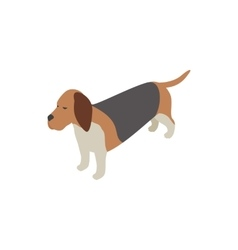 Basset hound dog icon isometric 3d style vector image vector image