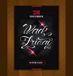 black friday sale design poster black friday vector image