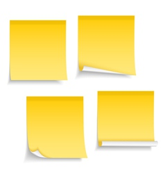 Blank Sticky Notes vector image vector image