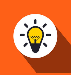 bulb flat design icon vector image